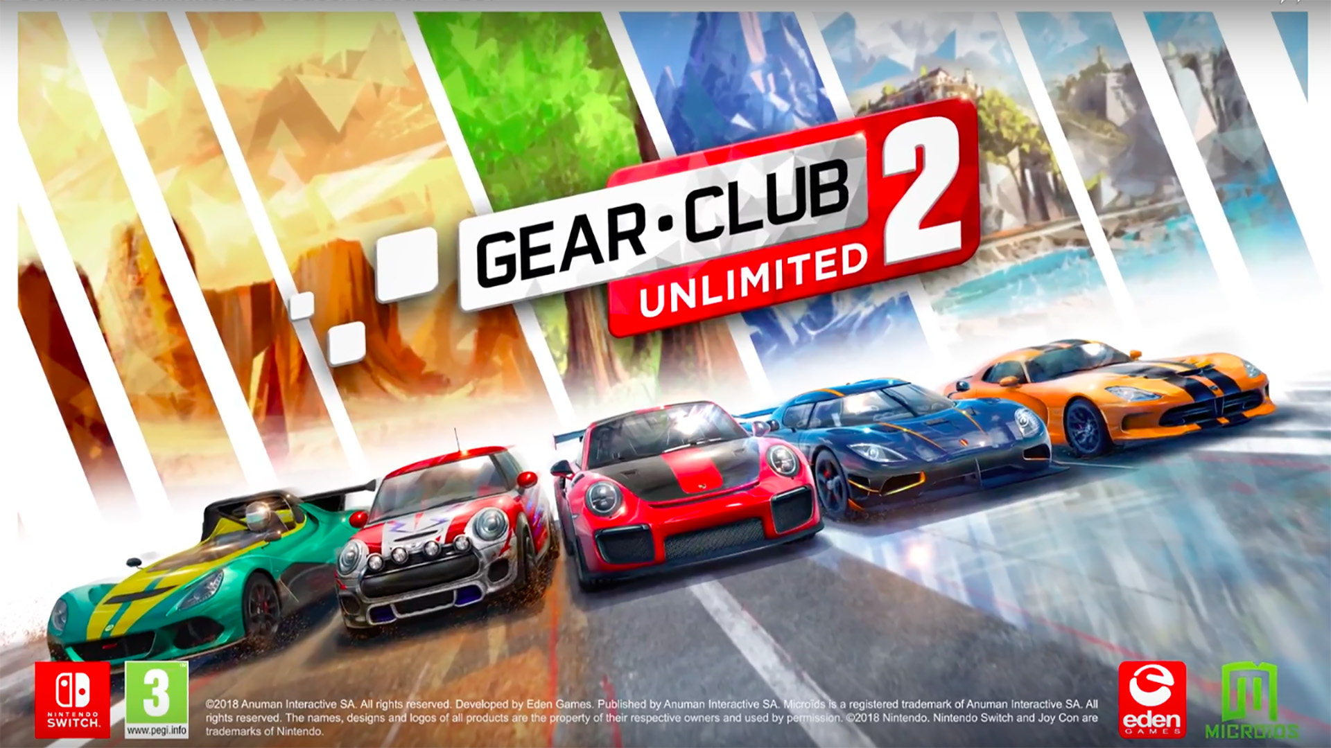 Gear Club Unlimited 2 Switch Présentation Gamescom