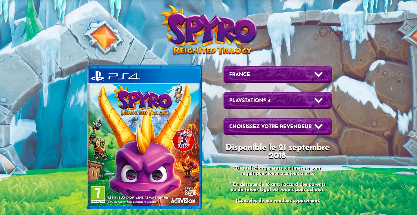 Mention Téléchargement Spyro 2 et 3