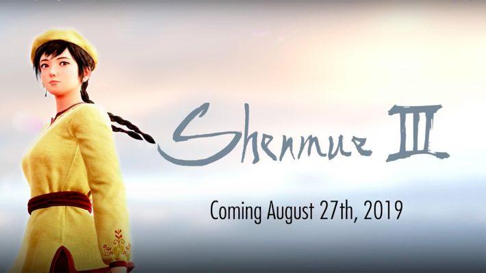 Shenmue III dévoile sa date de sortie officielle fixée au 27 août 2019