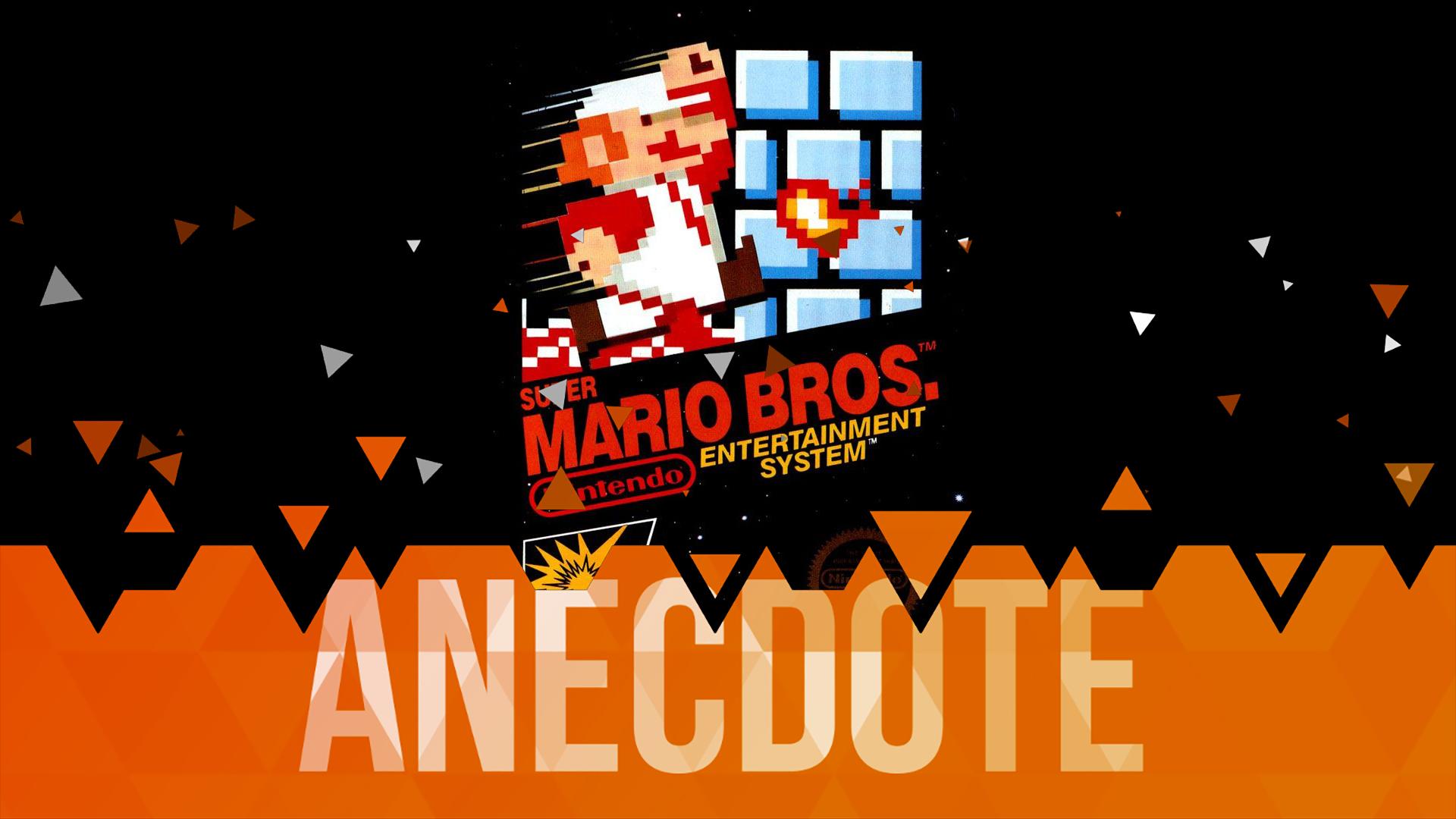 Anecdote du Jeu Vidéo Super Mario Bros