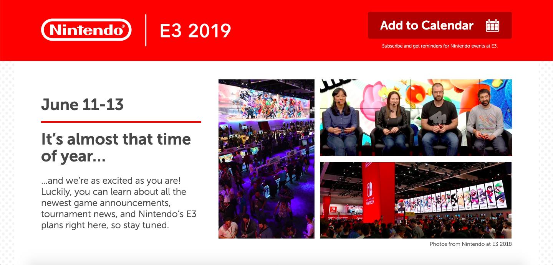 Site E3 2019 Nintendo